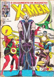 X-men 24, Gibi, 84pags, Color, 1990.