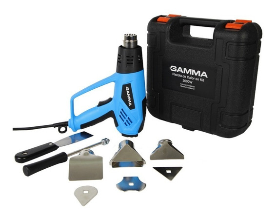Pistola De Calor En Kit Gamma 2000w Temp.variable Envio Full