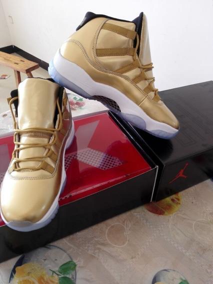 Tenis Nike Air Jordan 11 Og Gold