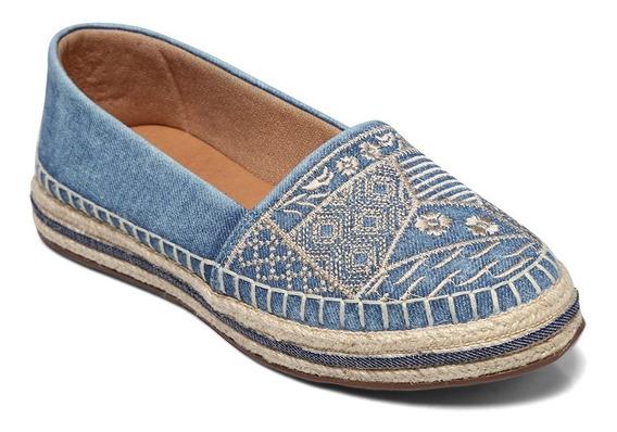 Alpargata Valentina Jeans/marinho/bege 392100