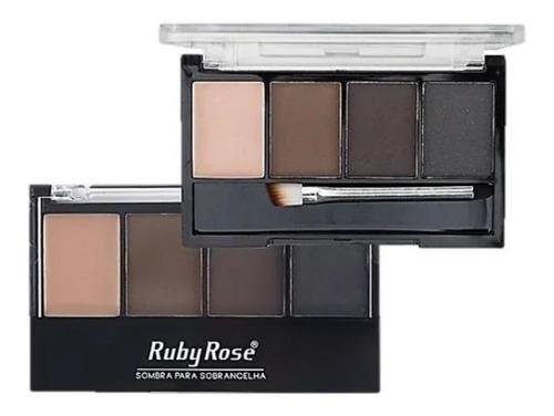 Ruby Rose Sombra Sobrancelhas Marrom Claro/ Médio E Preta