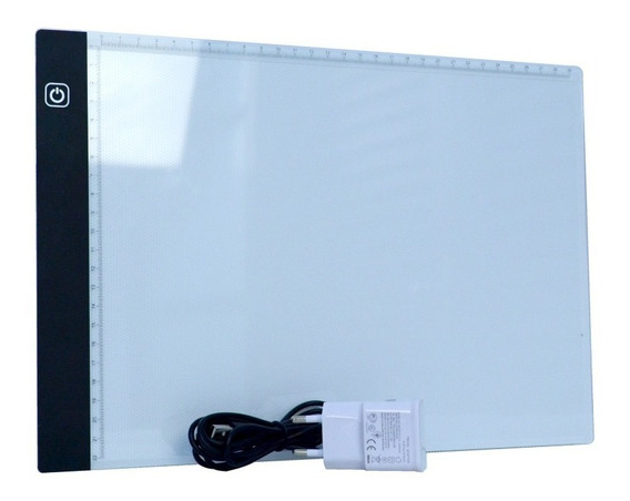 Mesa De Luz Para Desenho E Transposição - Led Branco A4