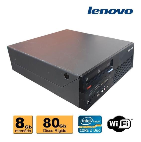 Cpu Lenovo E8200 2.6 8gb Ddr3 Hd 80gb Dvd Wif