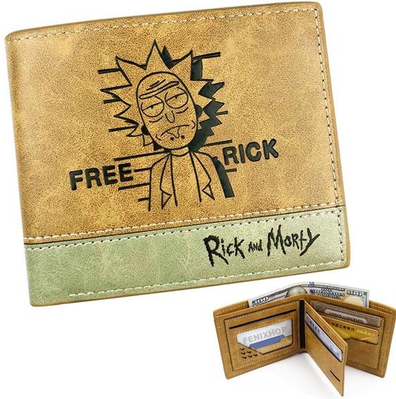 Rick Y Morty Cartera Envio Gratis Billetera Piel Pu Meeseek