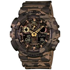 Relógio G-shock Casio Camuflado Digital E Analógico Ga-100cm