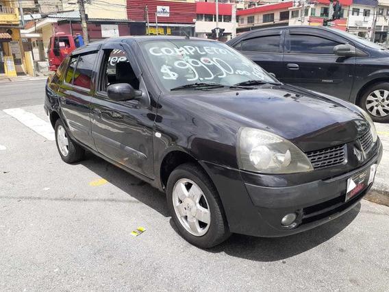 Clio Sedan 1.0 2005 Completo $ 9.990,00 Abaixo Da Fipe