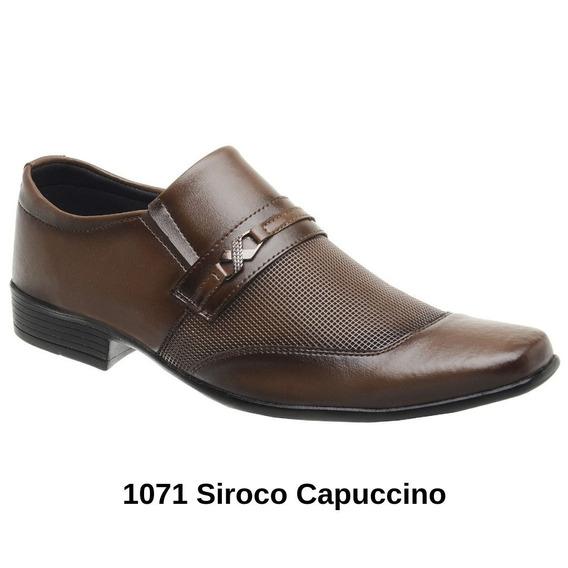 Sapato Social Masculino Qualidade Preço Barato Marrom Preto