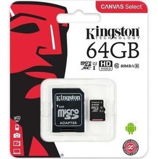 Cartão De Memória Micro Sd 64gb Classe 10 Kingston 800mb/s