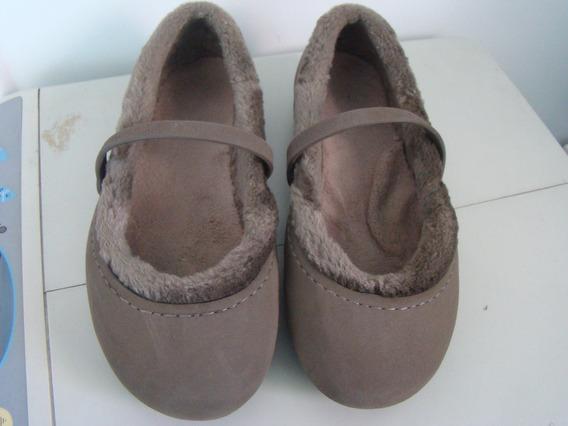 Crocs Infantil Marrom De Inverno Com Pêlo. Tamanho 33.