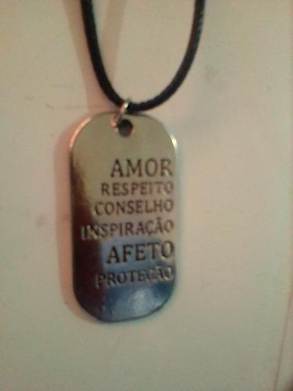 Colar Medalha Amor Respeito Inspiração Afeto Proteção