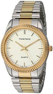 Reloj Casual De Acero Y Metal Cuarzo Timetech Stretch Bracel