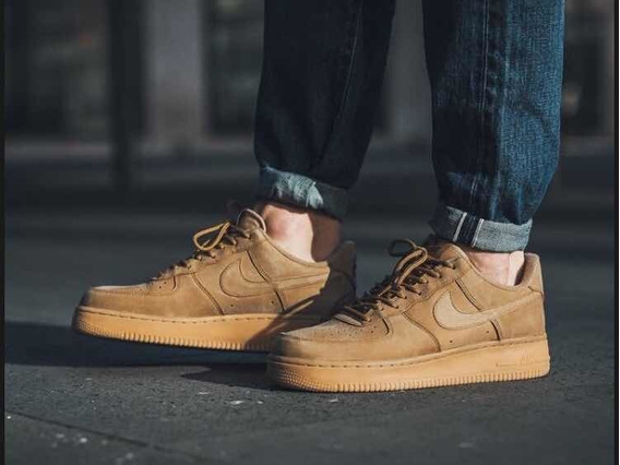 Nike Air Force 1 Mid Wheat Flax Hombres Zapatillas en