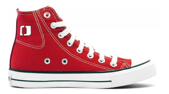Zapatillas John Foos 184 Lona Color Roja - Corner Deportes
