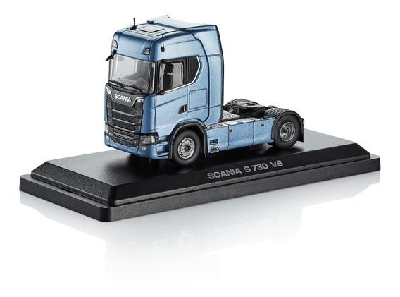 Caminhão Miniatura Scania S730 V8 4x2 Em Caixa Acrílica