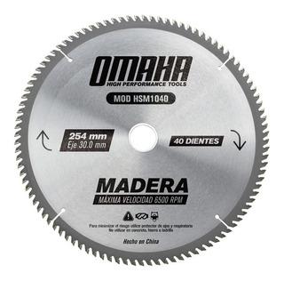 Hoja De Sierra P/ Madera 254 X 30 Mm 40 D. Omaha