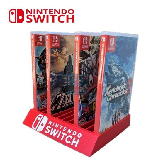 Nintendo Switch Suporte Guardar Jogos Acessório Estande