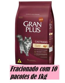 Ração Gran Plus Gatos Castrados Salmão & Arroz 10un X 1kg