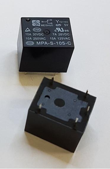 Rele 5v 5vcc 5vdc Mpa-s-105-c - Kit 10 Pçs
