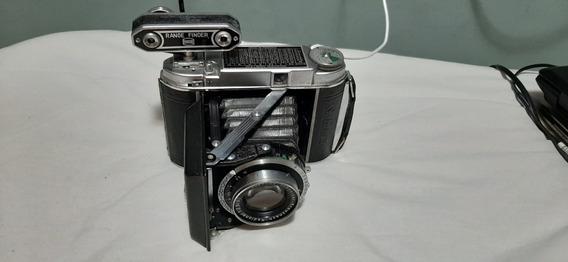 Câmera Alemã Antiga Rara Frauka Solida3 1950 Com Acessórios
