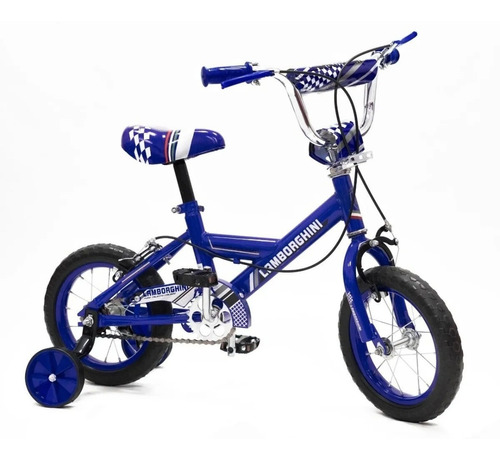 Bicicleta Infantil Rodado 12 Lamborghini Rueditas Nuevelunas