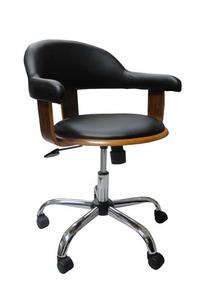 Cadeira Escritório Com Rodizio Walnut Wood Goodsbr 86x65x65