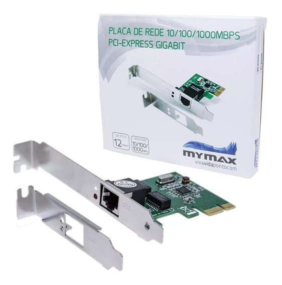 Placa De Rede Gigabit Pci-express Mymax - 10/100/1000mbps