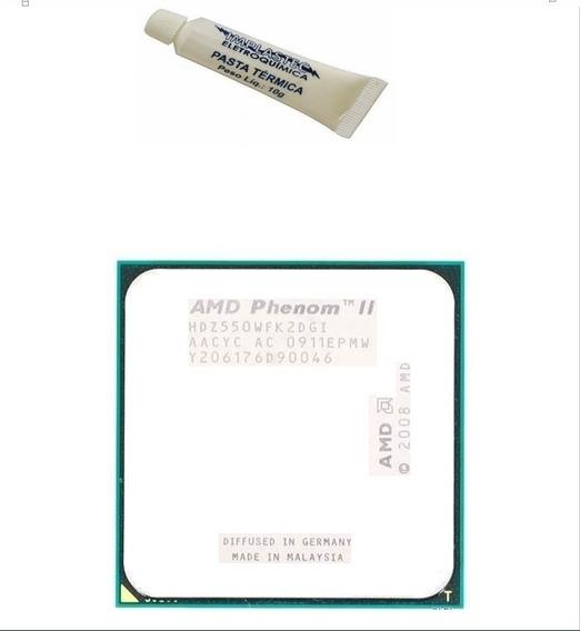 Processador Hdx550 Phenom Ii X2 Socket Am2 Am+ Am3 3.10