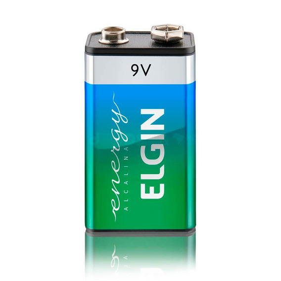 Bateria Alcalina Energy 9v - Elgin 2 Packs