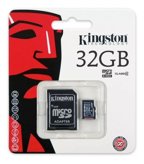 Cartão De Memória Microsd Kingston 32gb Classe 10 Com Adapta
