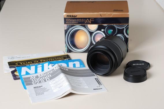 Lente Nikon Micro Af-d 105mm F/2.8 - Macro 1:1