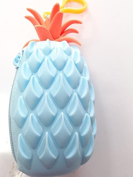 Monedero Piña Fruta Silicón Con Llavero