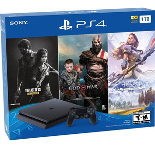 Consola Ps4 1 Tera + 3 Juegos God Of War Horizon Shadow