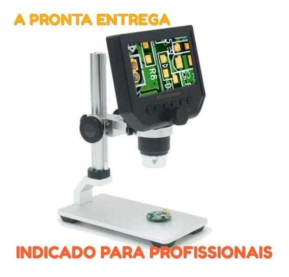 Microscópio Digital Portátil Zoom600x Tela Lcd 4.3 Hd Fone