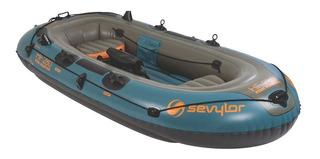 Bote Barco Inflável Sevylor 4 Pessoas Fish Hunter Até 320 Kg