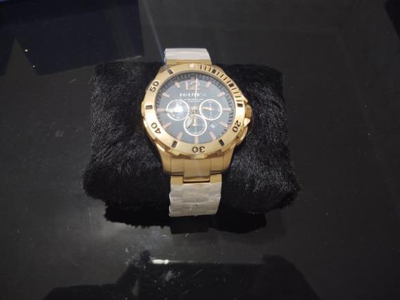 Relógio Masculino Nautica A27524g Metal Analógico Dourado