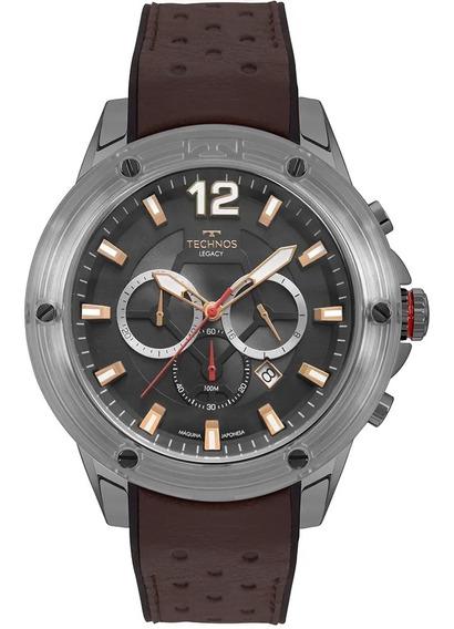 Relógio Masculino Technos Couro Marrom Js26ao/2p