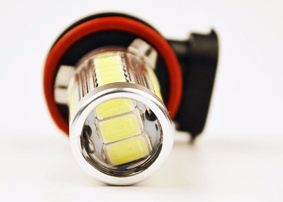 Par Lâmpada Led Automotiva Carro Moto H3 H8 H11 Branco