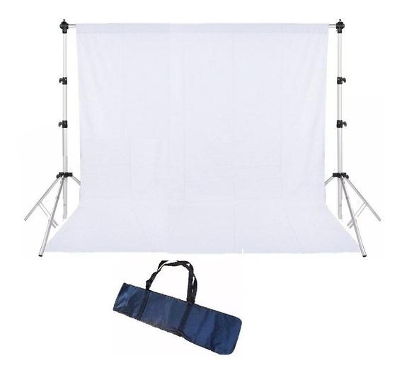 Suporte P/ Fundo Móvel Inc Com Tecido E Bag Completo 3,0x2,4