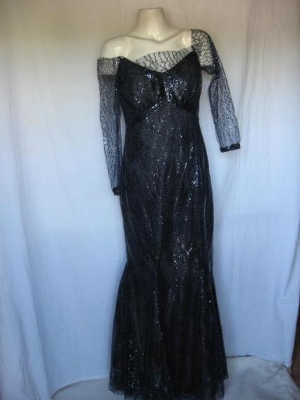Vestido Noche Largo, Muy Importante, Importado, Talle M