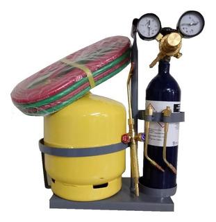 Equipo Autogena Oxigas 1/4m3 Soldar 2kg Butano
