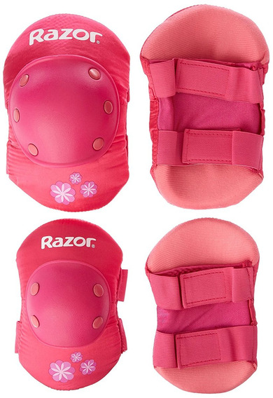 Kit Coderas Rodillera Razor Youth Sweet Pea Pad Pink