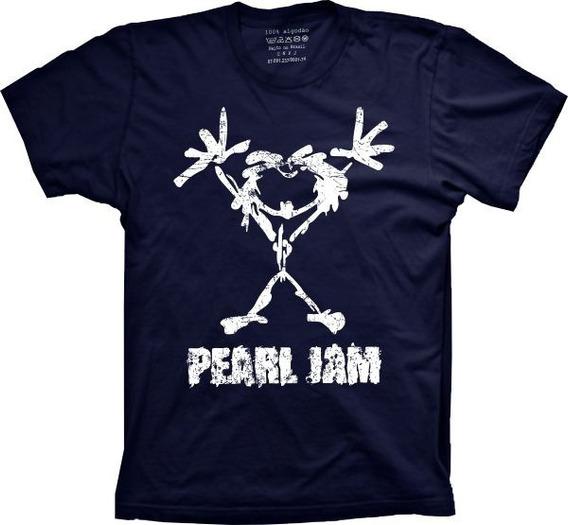 Camiseta Pearl Jam Vários Tams. Plus Size G1 G2 G3 G4