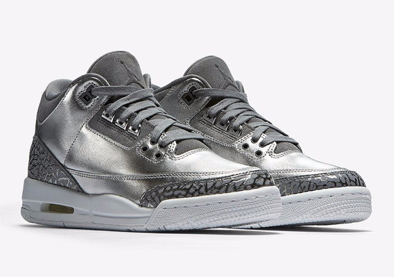Air Jordan 3 Retro Chrome Premium Heires 25 Mx