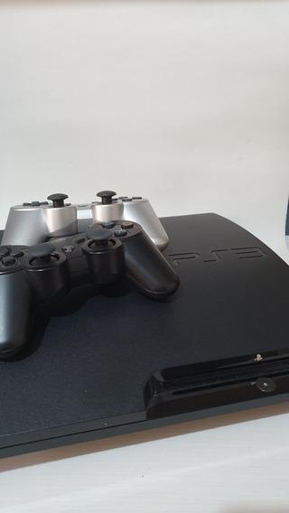 Playstation 3 Slin 512gb + 2 Controles+ Bolsa Cargo Original