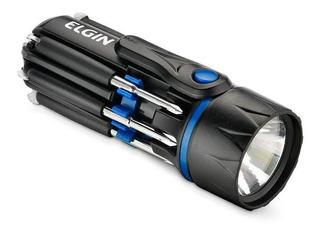 Lanterna Led Versátil Elgin 8 Em 1 Com Chaves Fenda E Philip