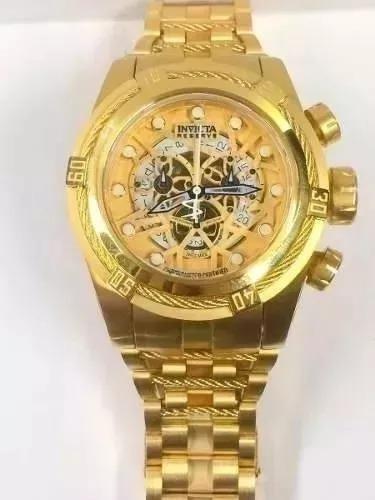 Relógio Wx78309 Invicta 12763 Bolt Zeus Dourado Caixa