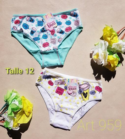 Pack De Bombacha De Nena Kiero Talle 12 Art 959