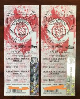 Vendo Boletas Concierto De Dread Mar I - Bogotá 14-09-19