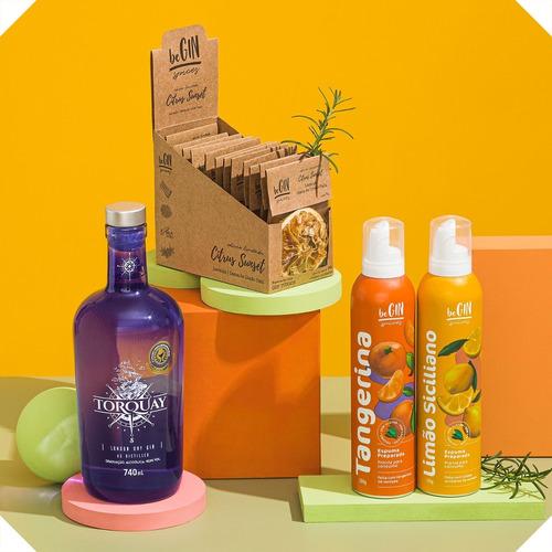 Combo Gin Torquay + Box Citrus + Espumas Tangerina E Limão