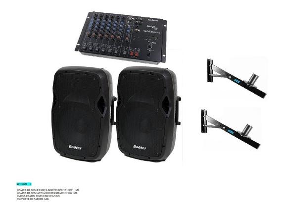 Caixa De Som Mesa De Som Kit Sonorização
